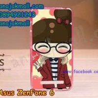 M806-11 เคสยาง ASUS ZenFone 6 ลาย Hi Girl