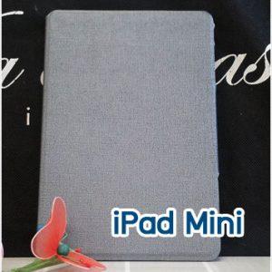 Mi49-04 เคสหนัง iPad Mini สีเทา