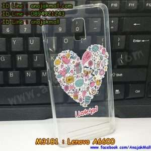 M3181-19 เคสยาง Lenovo A6600 ลาย i Love u X02