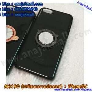 M3190-05 เคสแข็งสีดำ iPhone 5C พร้อมแหวน Devil