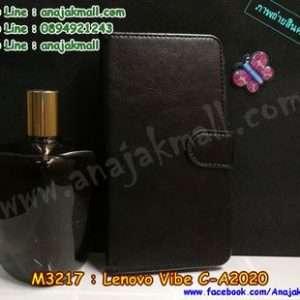 M3217-02 เคสฝาพับไดอารี่ True Lenovo 4G Vibe C สีดำ