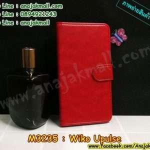 M3235-01 เคสฝาพับเปิดข้าง Wiko Upulse สีแดง