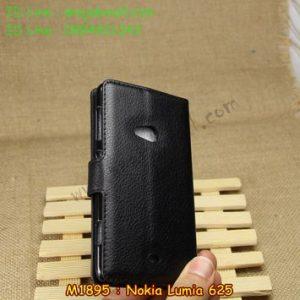 M1895-01 เคสหนังฝาพับ Nokia Lumia 625 สีดำ