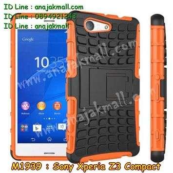 M1939-01 เคสทูโทน Sony Xperia Z3 Compact สีส้ม
