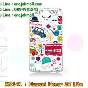 M2141-27 เคสแข็ง Huawei Honor 3C Lite ลาย London