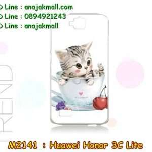 M2141-37 เคสแข็ง Huawei Honor 3C Lite ลาย Sweet Time