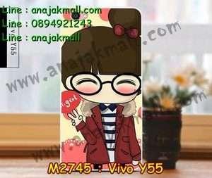 M2745-28 เคสแข็ง Vivo Y55 ลาย Hi Girl