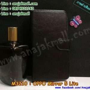M3210-02 เคสหนังฝาพับ Oppo Mirror 5 Lite สีดำ