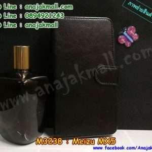M3238-02 เคสฝาพับไดอารี่ Meizu MX 5 สีดำ