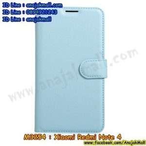M3254-04 เคสหนังฝาพับ Xiaomi Redmi Note 4 สีฟ้า