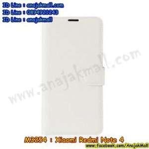 M3254-08 เคสหนังฝาพับ Xiaomi Redmi Note 4 สีขาว