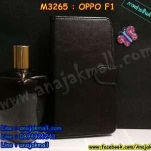 M3265-02 เคสฝาพับไดอารี่ Oppo F1 สีดำ