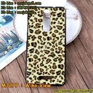 M3277-04 เคสยาง Wiko View ลาย Leopard YW