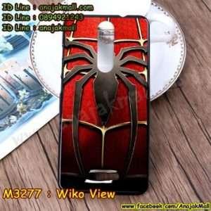 M3277-12 เคสยาง Wiko View ลาย Spider