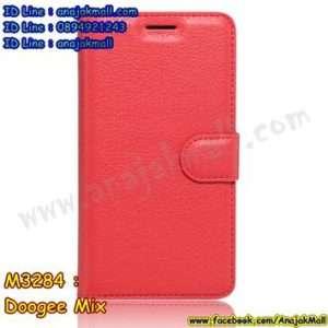 M3284-06 เคสฝาพับ Doogee Mix สีแดง