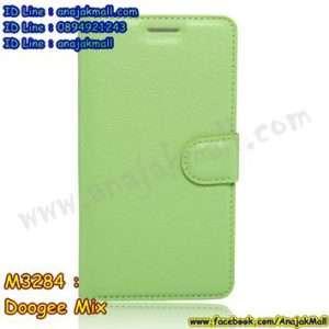 M3284-07 เคสฝาพับ Doogee Mix สีเขียว