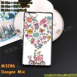 M3286-04 เคสยาง Doogee Mix ลาย Pink Love