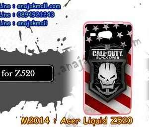M2014-38 เคสยาง Acer Liquid Z520 ลาย Black OPS