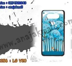 M2256-03 เคสแข็งดำ LG V20 ลาย Blue Tree