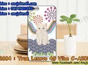 M2684-46 เคสยาง True Lenovo 4G Vibe C ลาย Lucky Cat