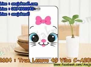 M2684-48 เคสยาง True Lenovo 4G Vibe C ลาย Meow