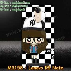 M3158-12 เคสแข็งดำ Lenovo K5 Note ลายแพนดาโรล