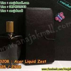 M3309-02 เคสหนังฝาพับ Acer Liquid Zest - Z525/Z528 สีดำ
