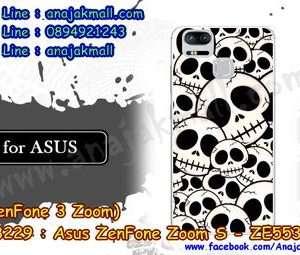M3229-16 เคสแข็ง Asus Zenfone Zoom S-ZE553KL ลาย Skull II