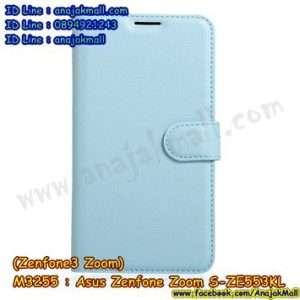 M3255-04 เคสหนังฝาพับ Asus Zenfone Zoom S-ZE553KL สีฟ้า