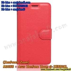 M3255-06 เคสหนังฝาพับ Asus Zenfone Zoom S-ZE553KL สีแดง