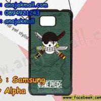 M3306-01 เคสแข็งดำ Samsung Galaxy Alpha ลาย Onepiece21