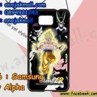 M3306-02 เคสแข็งดำ Samsung Galaxy Alpha ลาย Dragonball Z 09