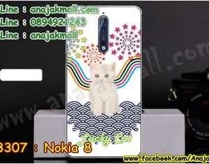 M3307-10 เคสแข็ง Nokia 8 ลาย Lucky Cat