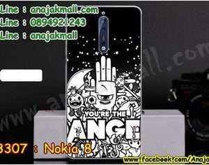 M3307-15 เคสแข็ง Nokia 8 ลาย Anger