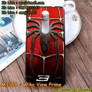 M3308-13 เคสยาง Wiko View Prime ลาย Spider