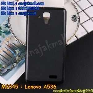 M3345-01 เคสยาง Lenovo A536 สีดำ