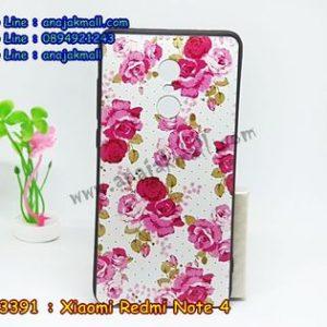 M3391-01 เคสยาง Xiaomi Redmi Note 4 ลาย Flower X01