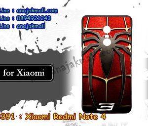 M3391-09 เคสยาง Xiaomi Redmi Note 4 ลาย Spider