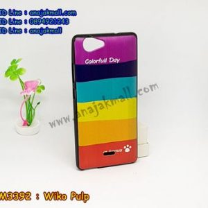 M3392-01 เคสยาง Wiko Pulp ลาย Colorfull Day