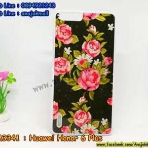 M3341-01 เคสแข็งขาว Huawei Honor 6 Plus ลาย Flower II