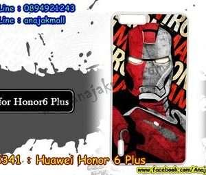 M3341-02 เคสแข็งขาว Huawei Honor 6 Plus ลาย Iron Man IV