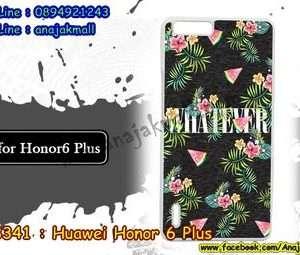 M3341-04 เคสแข็งขาว Huawei Honor 6 Plus ลาย Flower X01