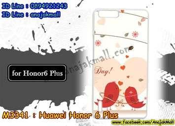 M3341-07 เคสแข็งขาว Huawei Honor 6 Plus ลาย Bird Love