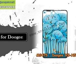M3475-04 เคสยาง Doogee X5/X5 Pro ลาย Blue Tree