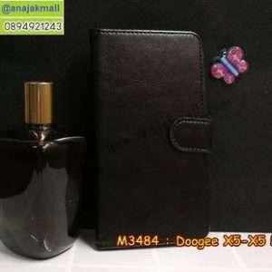 M3484-02 เคสฝาพับไดอารี่ Doogee X5/X5 Pro สีดำ