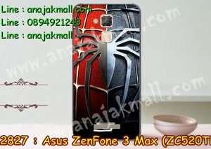 M2827-20 เคสแข็ง Asus Zenfone 3 Max - ZC520TL ลาย Spider IV