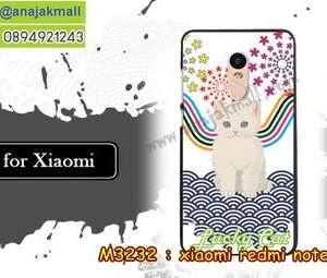 M3232-19 เคสแข็ง Xiaomi Redmi Note 4 ลาย Lucky Cat