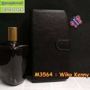 M3564-02 เคสฝาพับไดอารี่ Wiko Kenny สีดำ