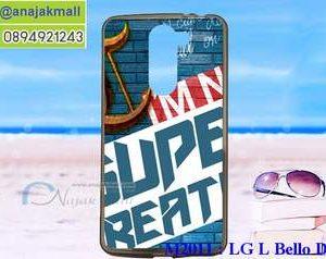 M2011-18 เคสยาง LG L Bello Dual ลาย Super