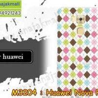 M3204-20 เคสแข็ง Huawei Nova Plus ลาย Square X01